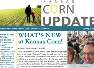 Kansas Corn Update Spring 2016 Newsletter
