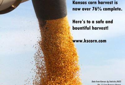 Kansas Corn Farmers Blazing Through Harvest