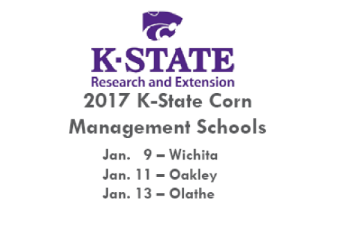 K-State Corn Management Schools scheduled for Jan. 2017