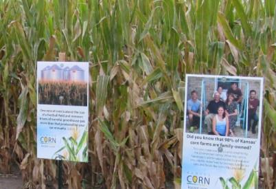 Kansas Corn Provides Educational Signs to Corn Mazes