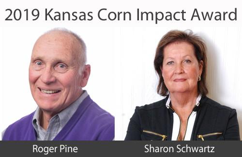 Kansas Leaders Pine, Schwartz Receive Kansas Corn Impact Award