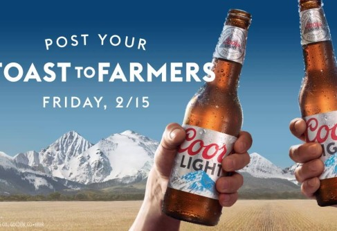 Kansas Corn Cheers Coors Light for #ToastToFarmers